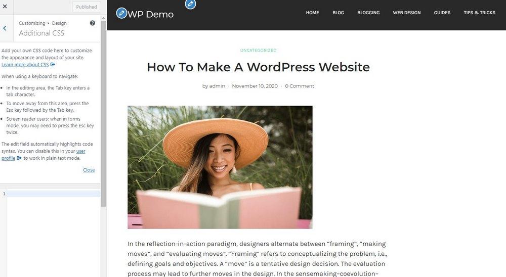 tambahkan css di wordpress 2