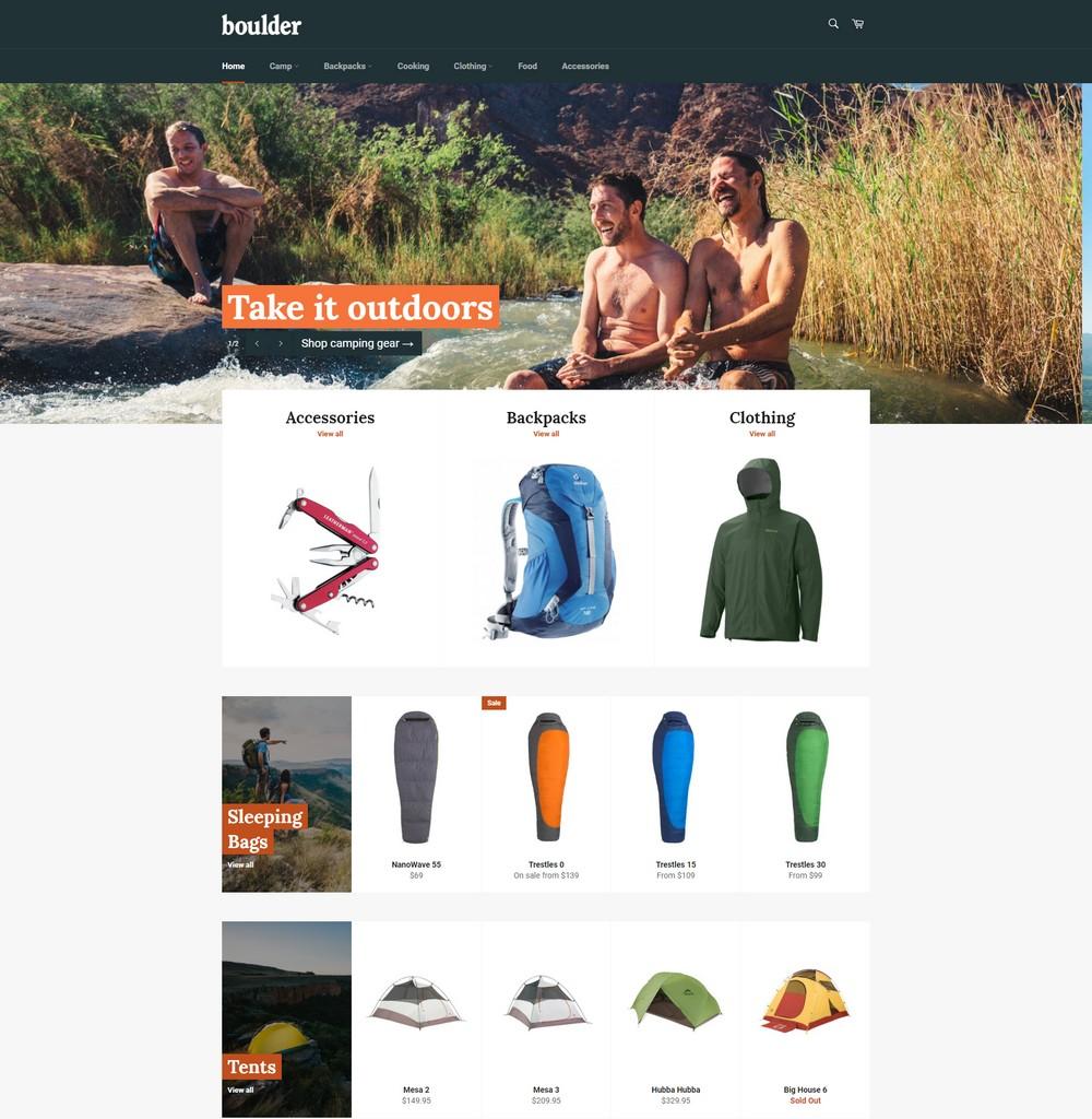 adventure free shopify theme
