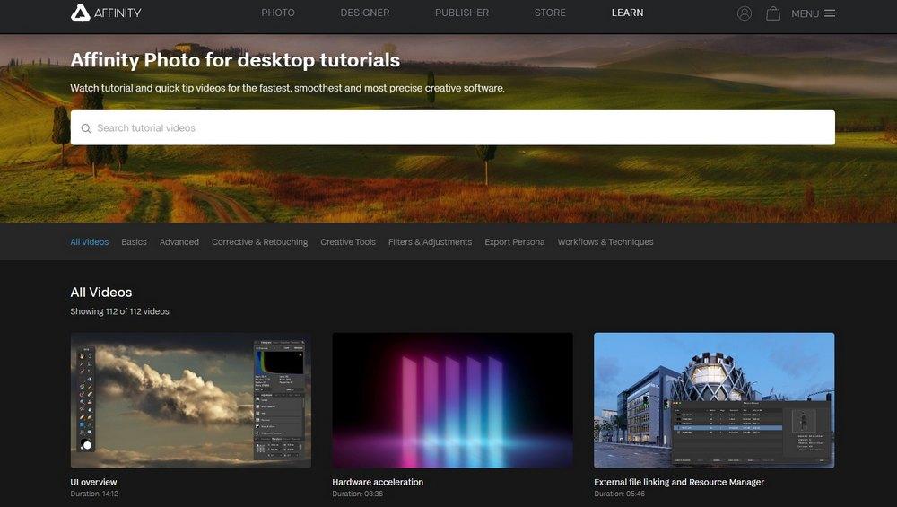 tutorial desktop foto afinitas