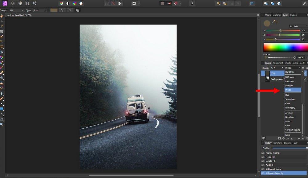campuran pengisi foto afinitas