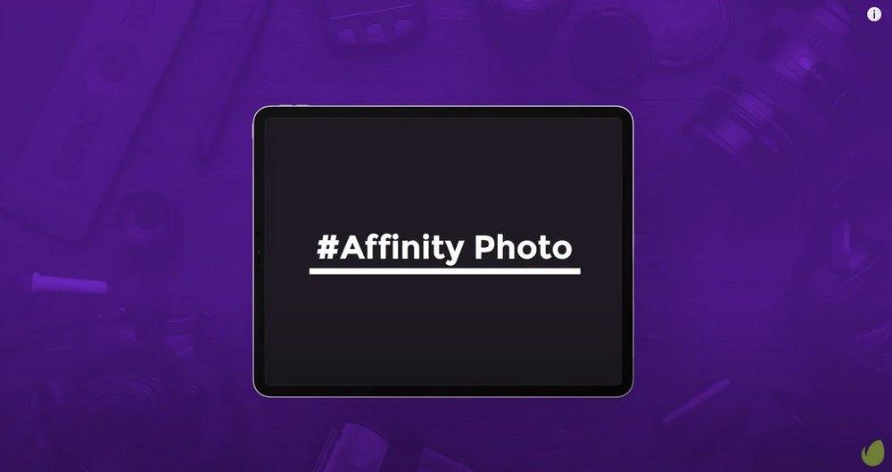 afinitas foto ipad tutorial