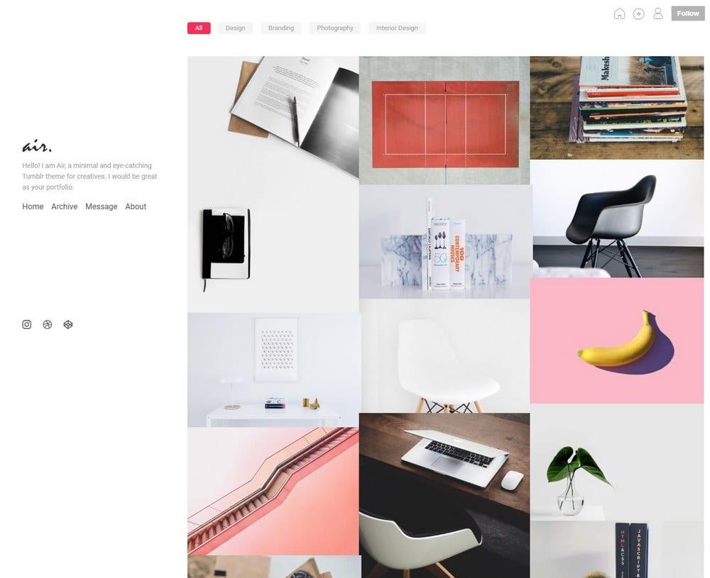air-minimal-tumblr-theme