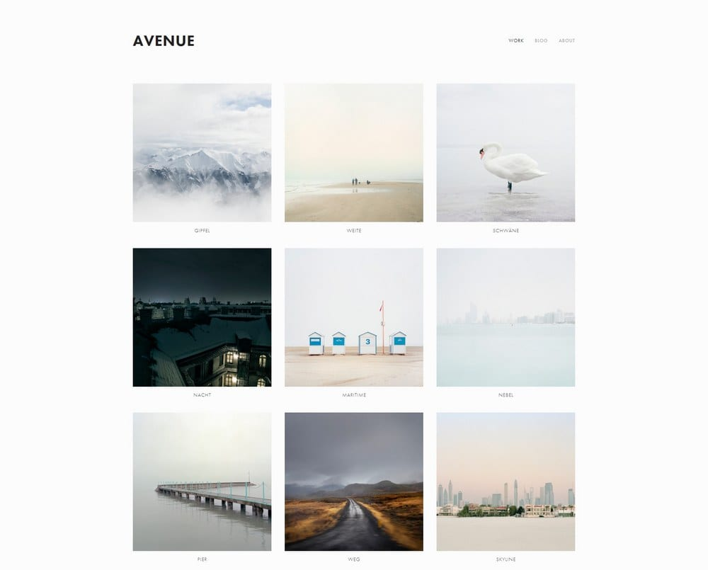 Avenue Squarespace Template Theme Junkie