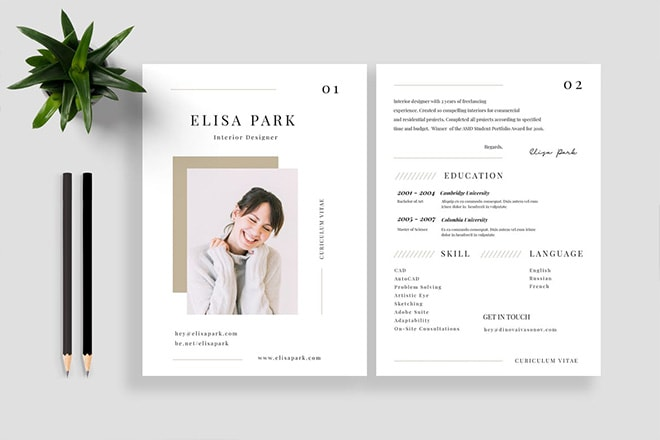25+ Best CV & Resume Templates 2020
