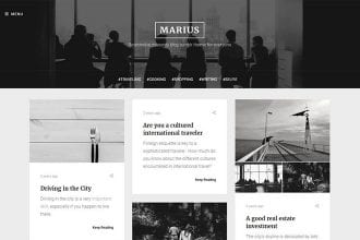15+ Black and White Tumblr Themes