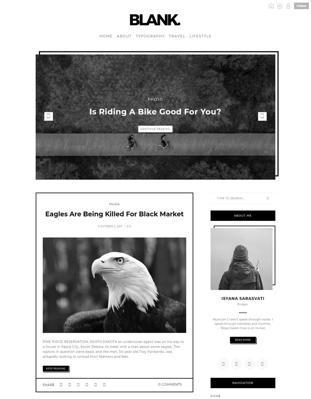 blank-one-column-tumblr-theme