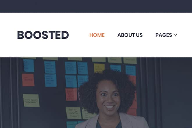 Boosted: Our New Business Landing Page Theme