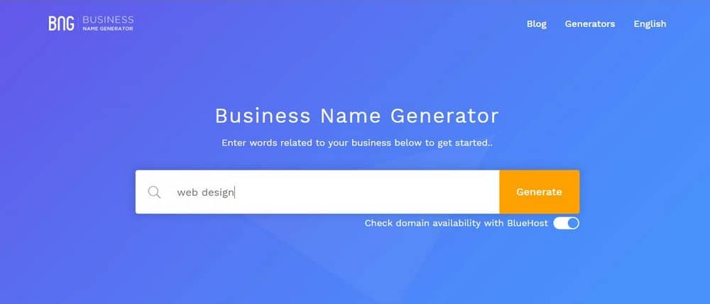 business name generator-step-1