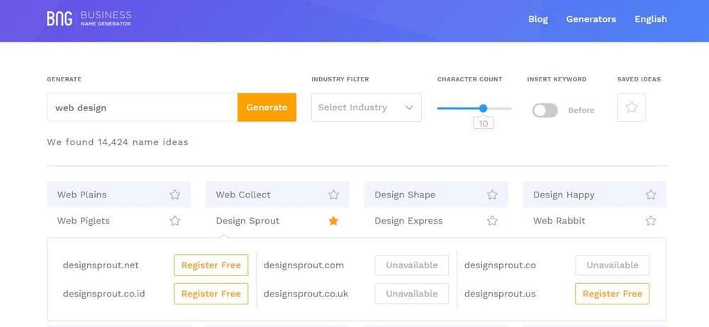 business name generator-step-4