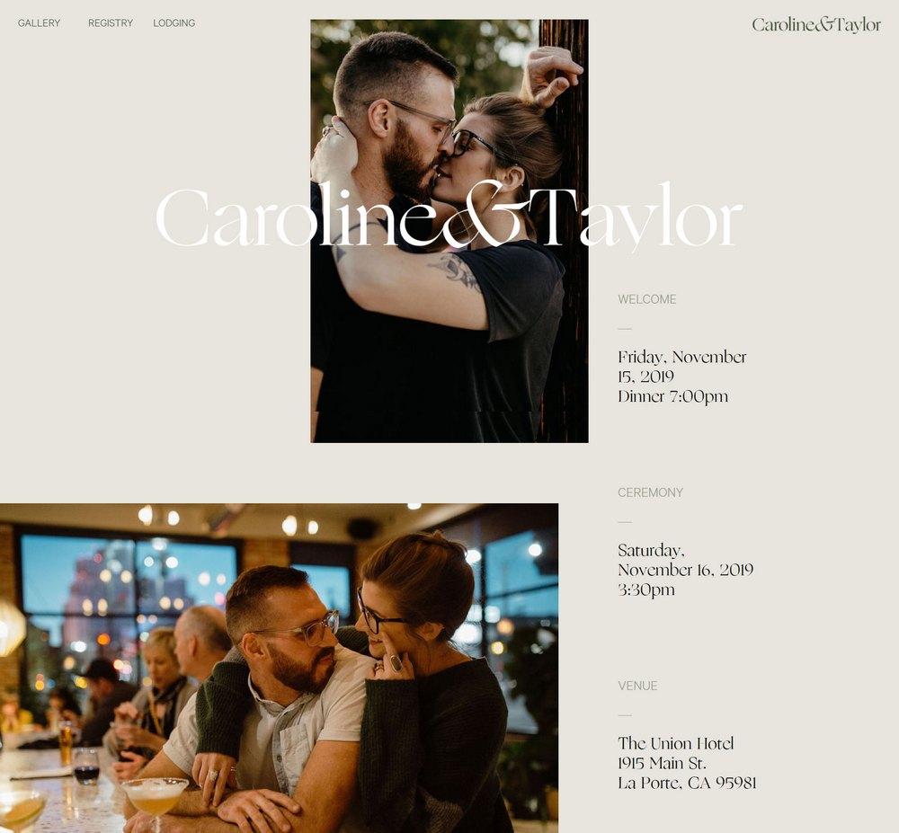 caroline and taylor