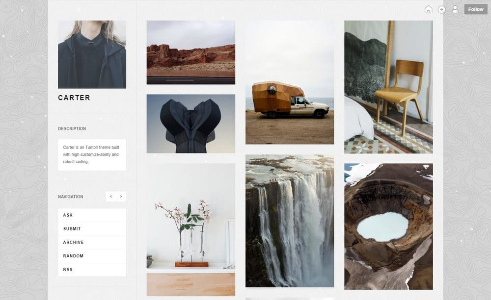 carter-tumblr-portfolio-theme