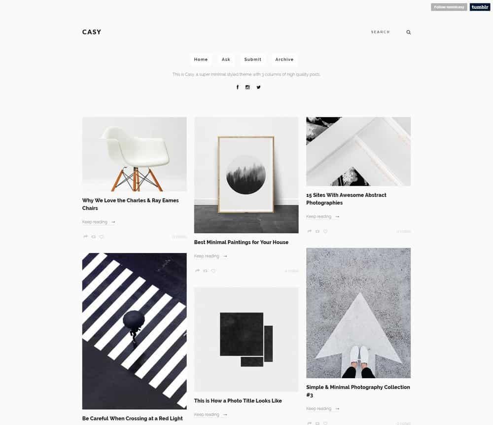 casy-minimal-tumblr-theme
