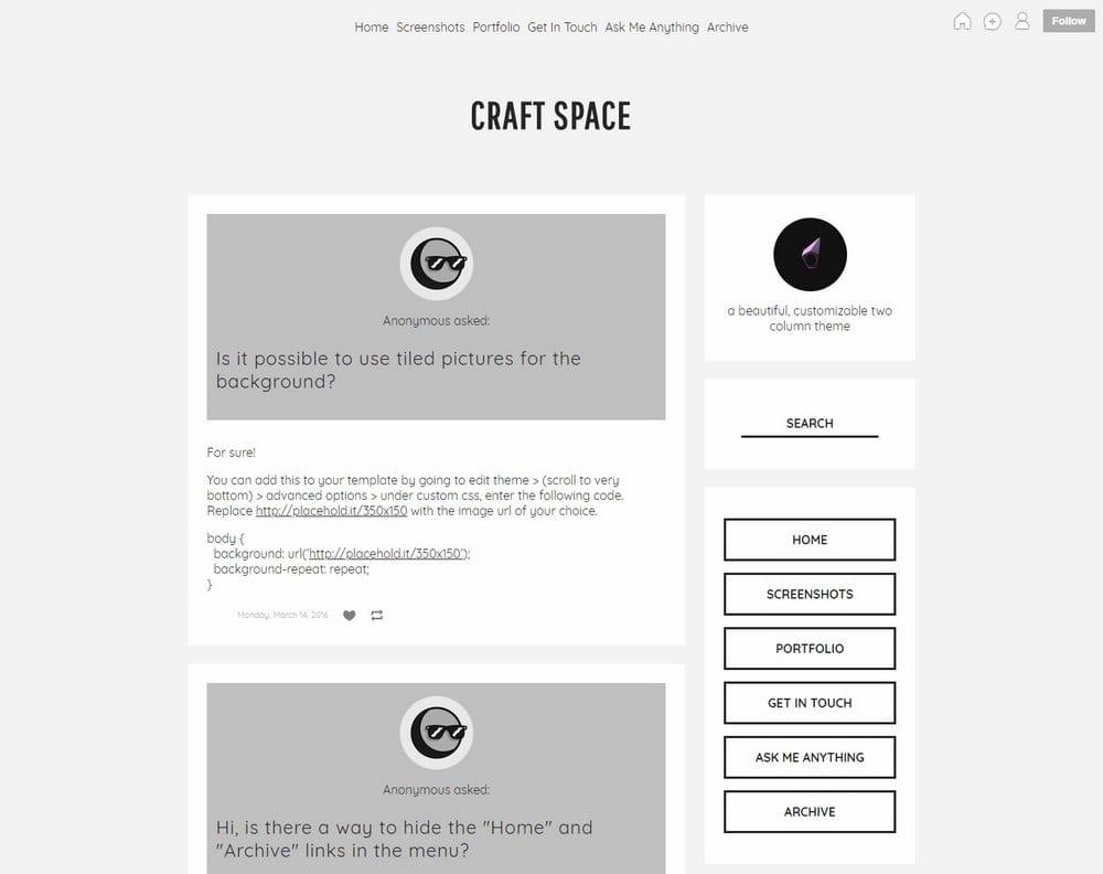 craftspace-two-column-tumblr-theme