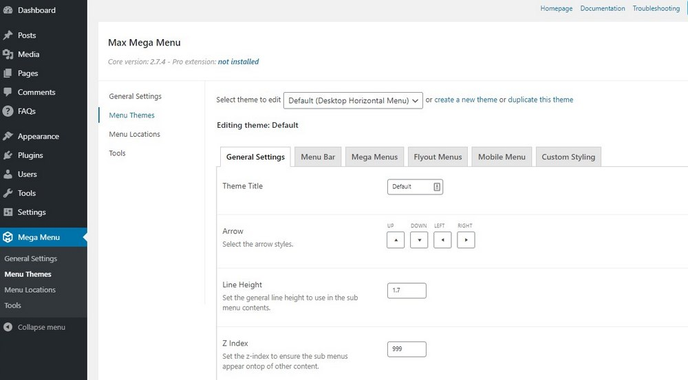 create mega menu wordpress - 2