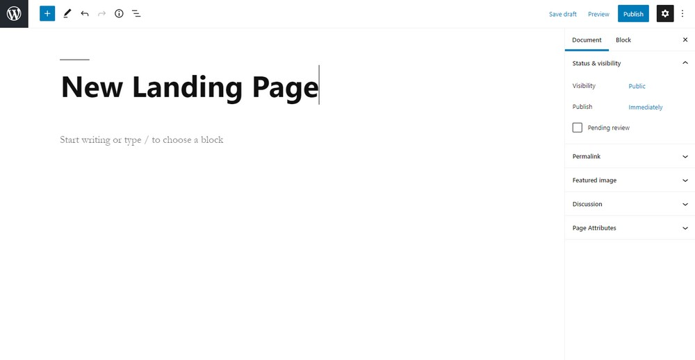 create new page 2