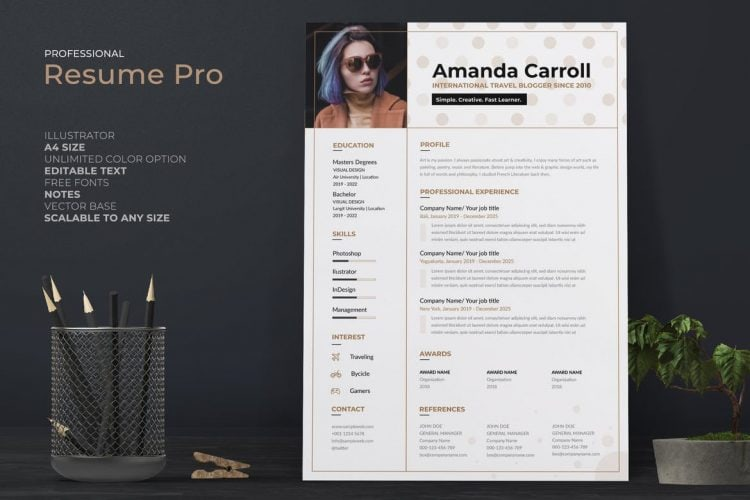 25 Creative Resume Templates With Unique Designs Theme Junkie