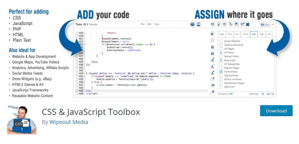 css and Javascript toolbox