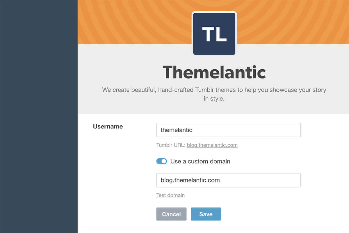 Connect a Custom Tumblr Domain