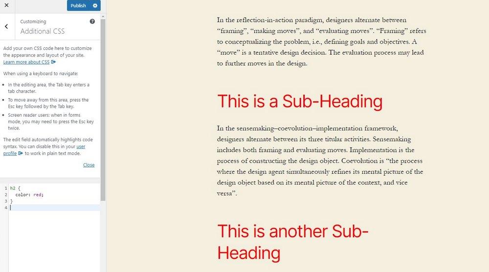 customize font colors css