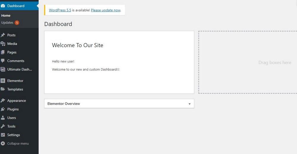 customize wordpress dashboard - widget preview