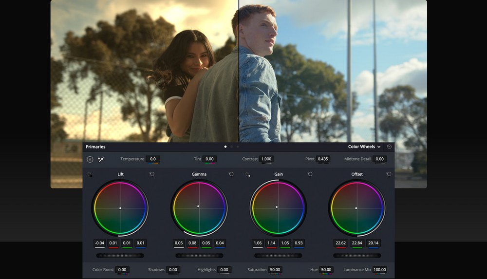 davinci resolve color correction