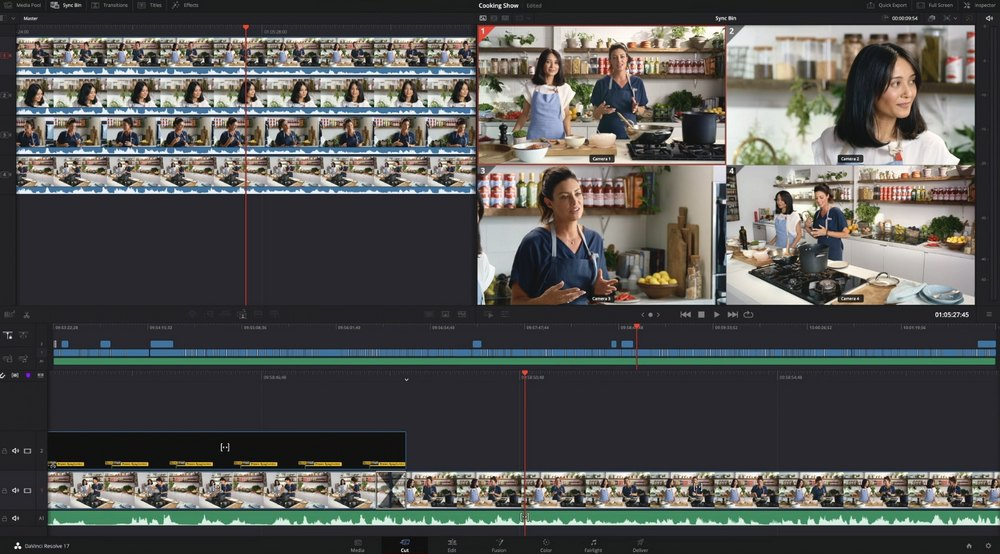 davinci resolve cutting