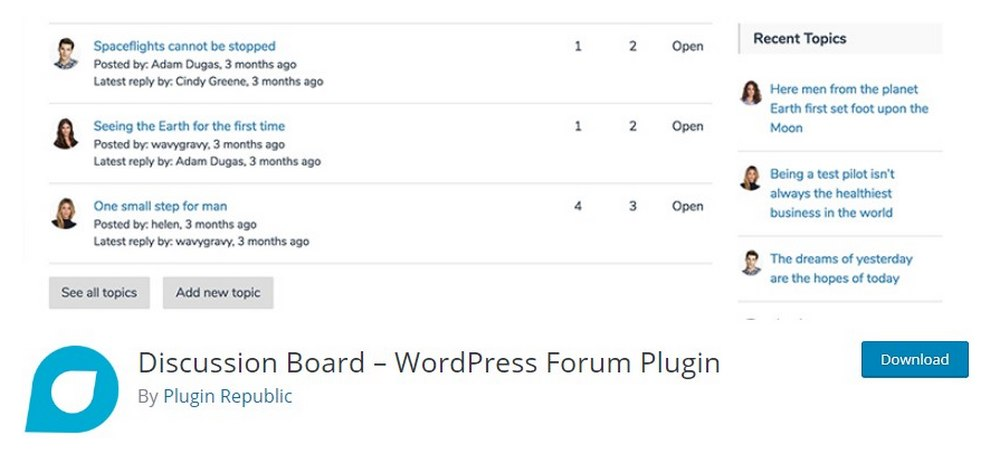 plugin papan diskusi