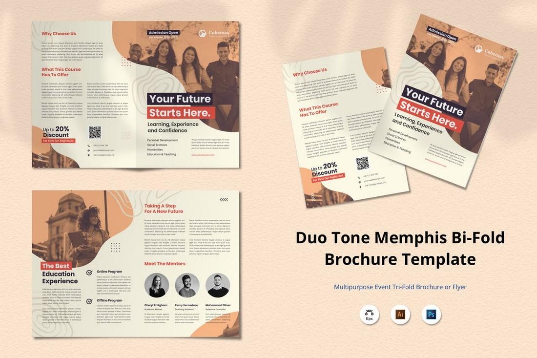 duotone brochure template