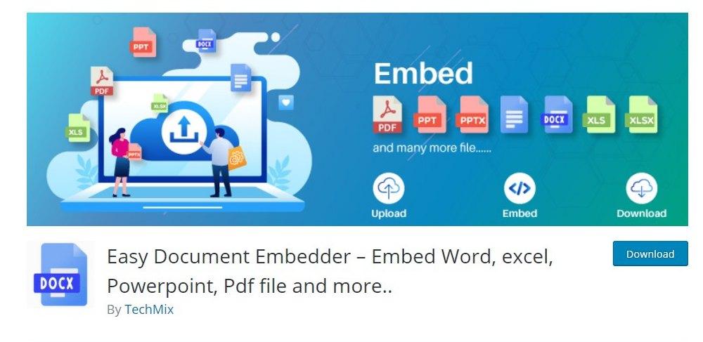 easy document embedder