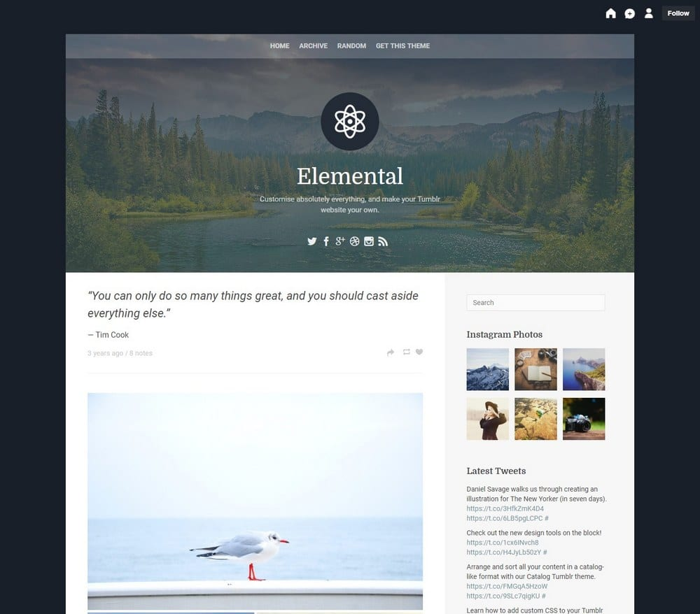 elemental-one-column-tumblr-theme
