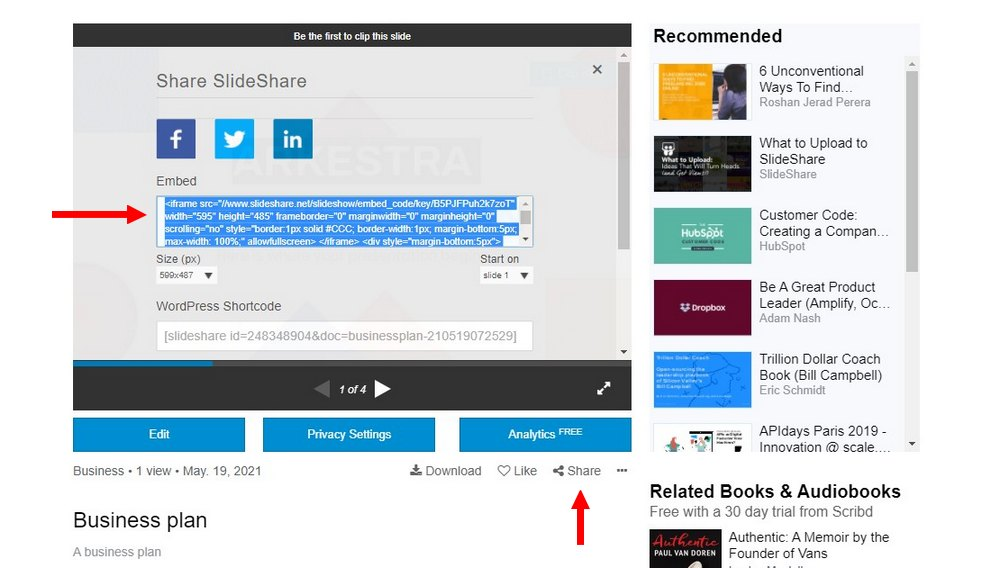 embed ppt with slideshare 3