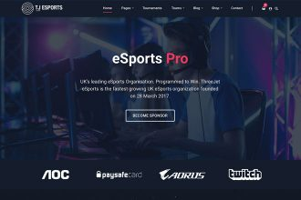 eSports Pro: Our New eSports & Gaming WordPress Theme