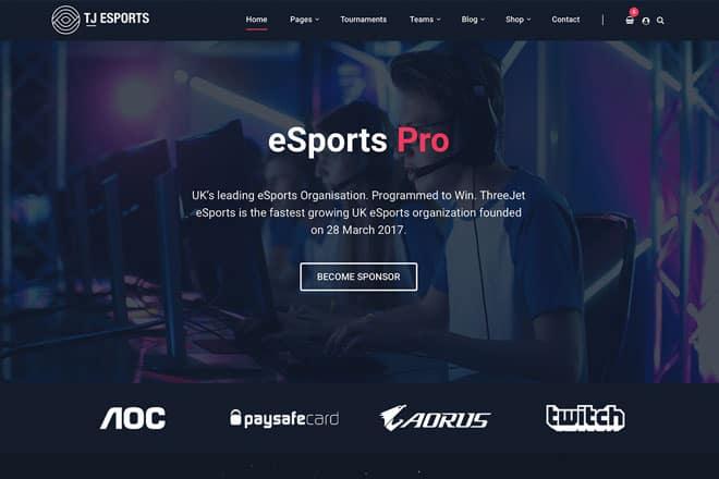 eSports Pro: Our New eSports & Gaming WordPress Theme