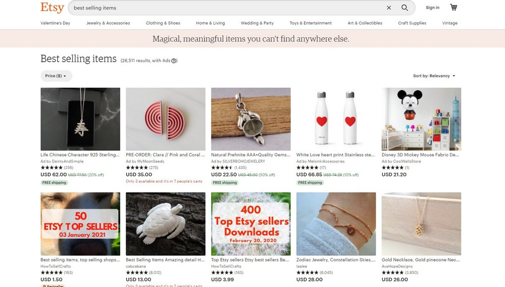 etsy popular products