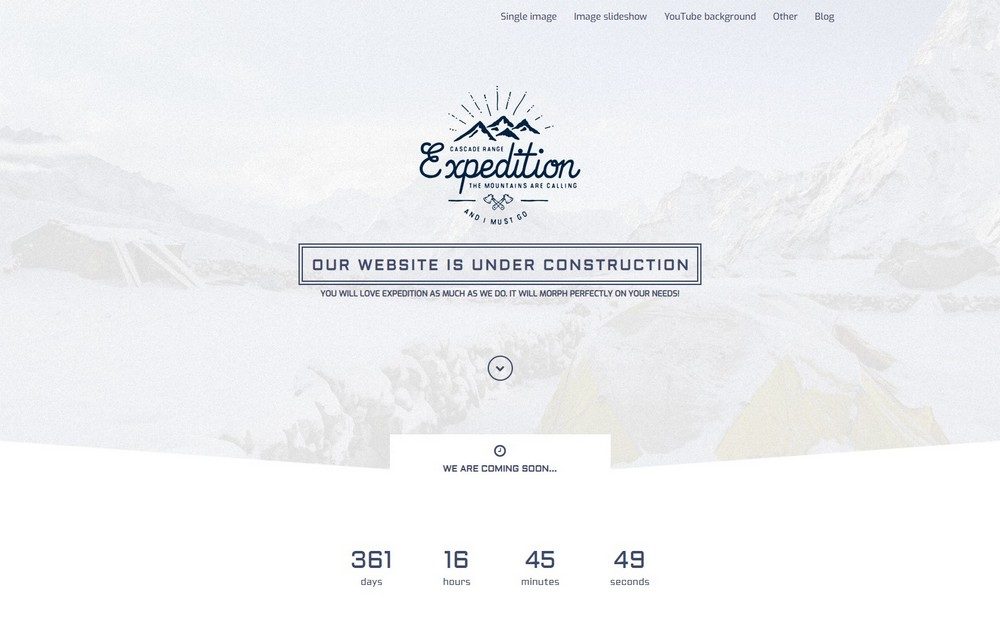 expedition coming soon theme