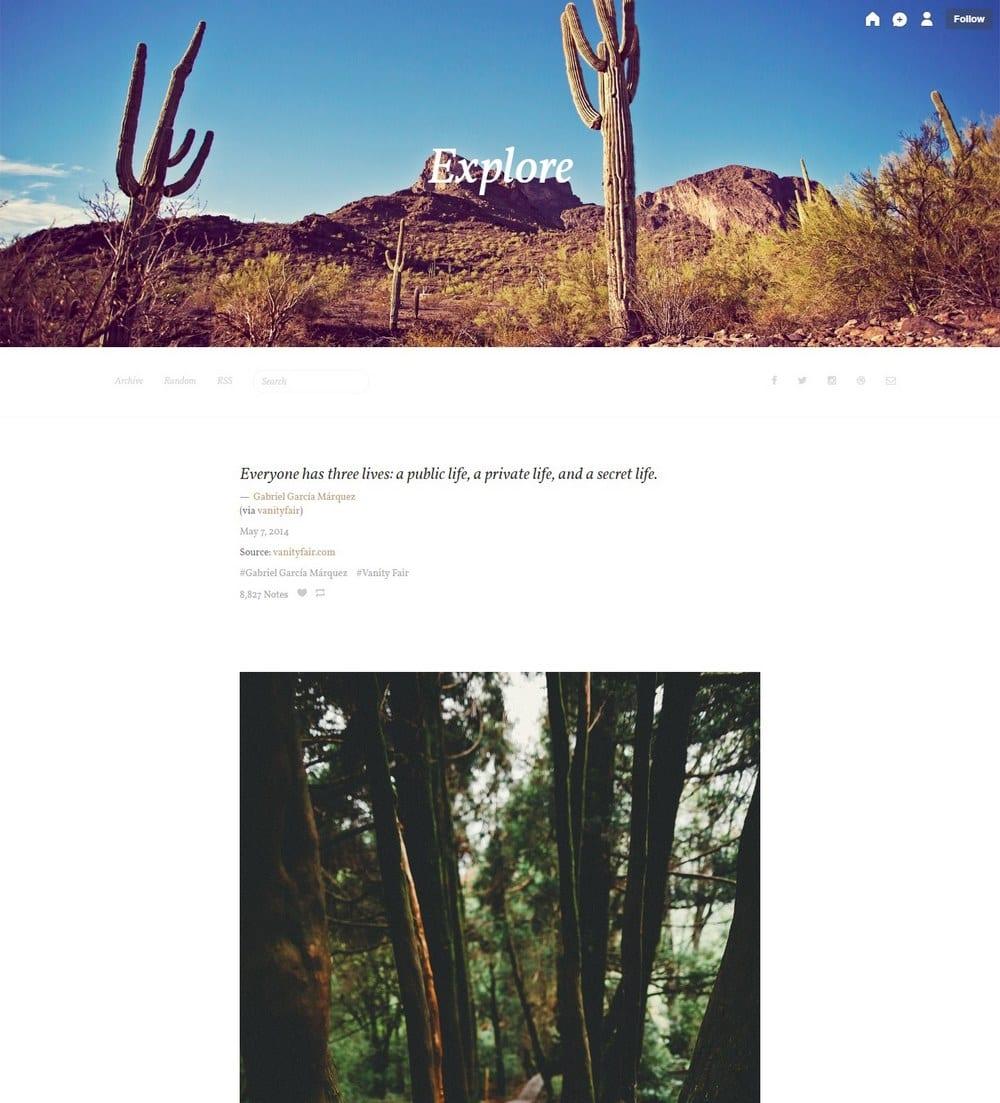 explore-minimal-tumblr-theme