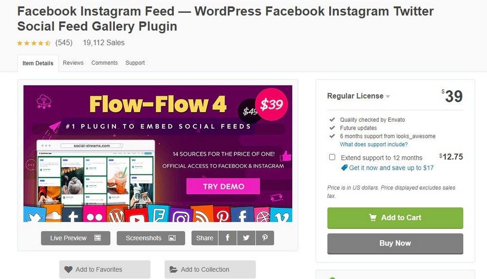 plugin feed instagram facebook