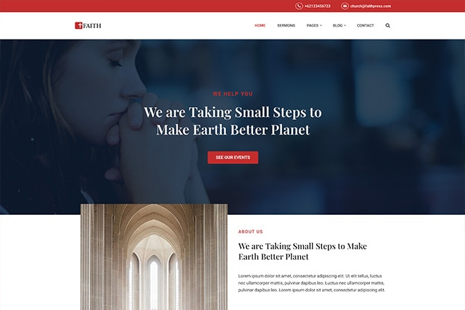 FaithPress: Our New Theme for Churches & Communities