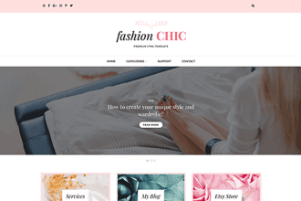 Fashion Chic HTML Template Now Available