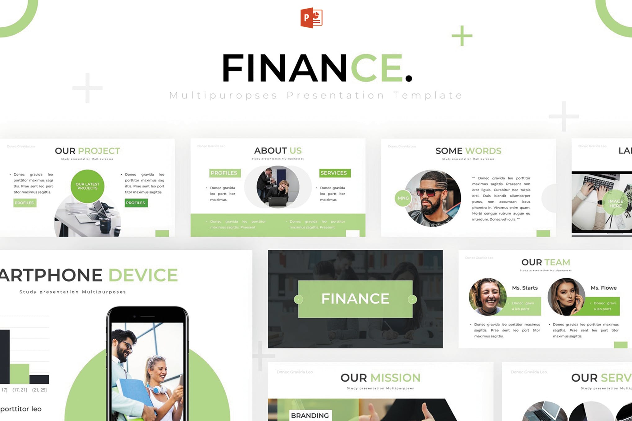 keuangan template PowerPoint