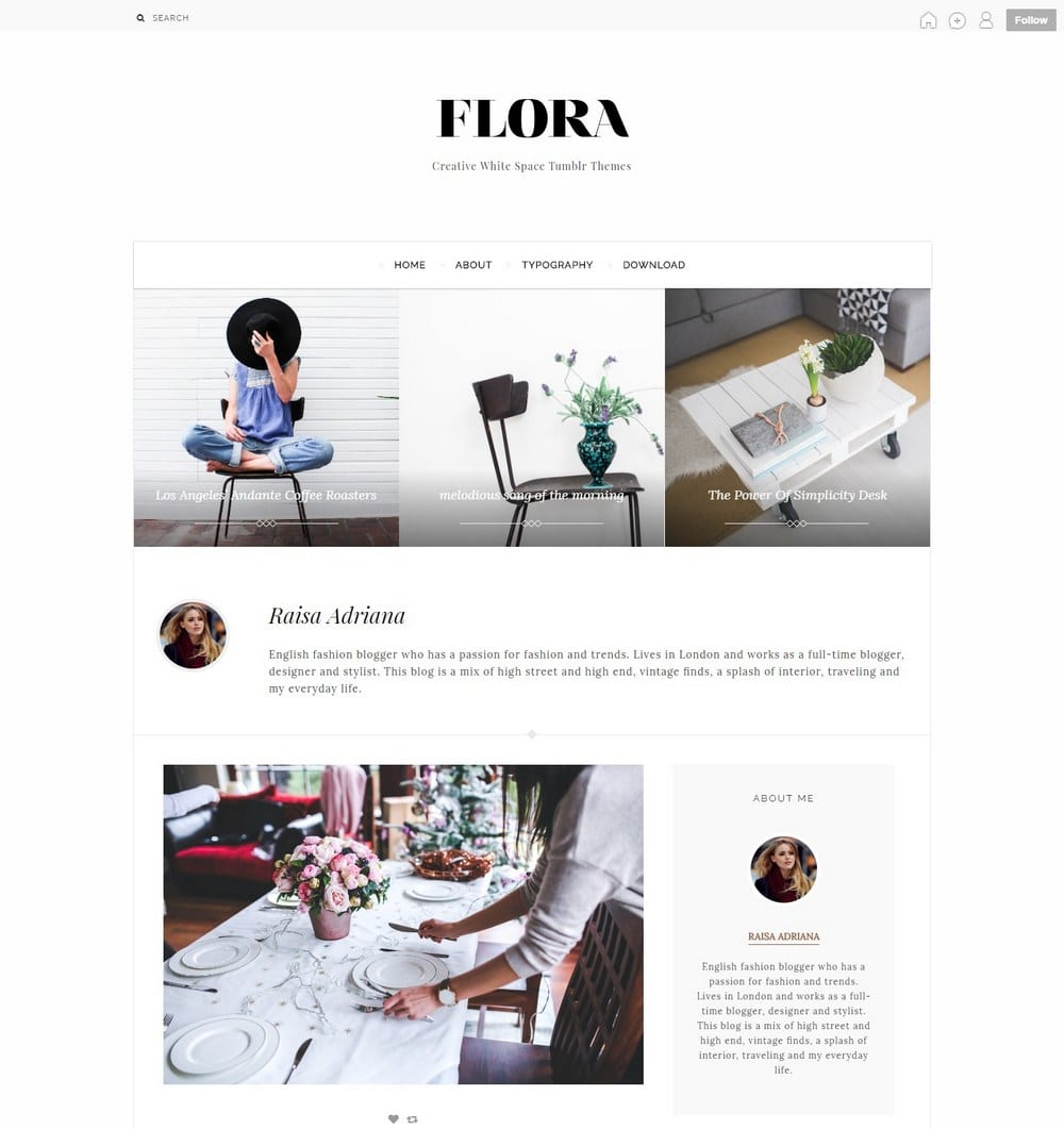 flora-one-column-tumblr-theme