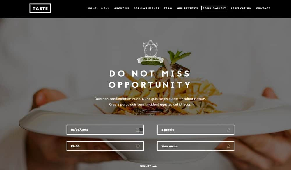 food-website-booking