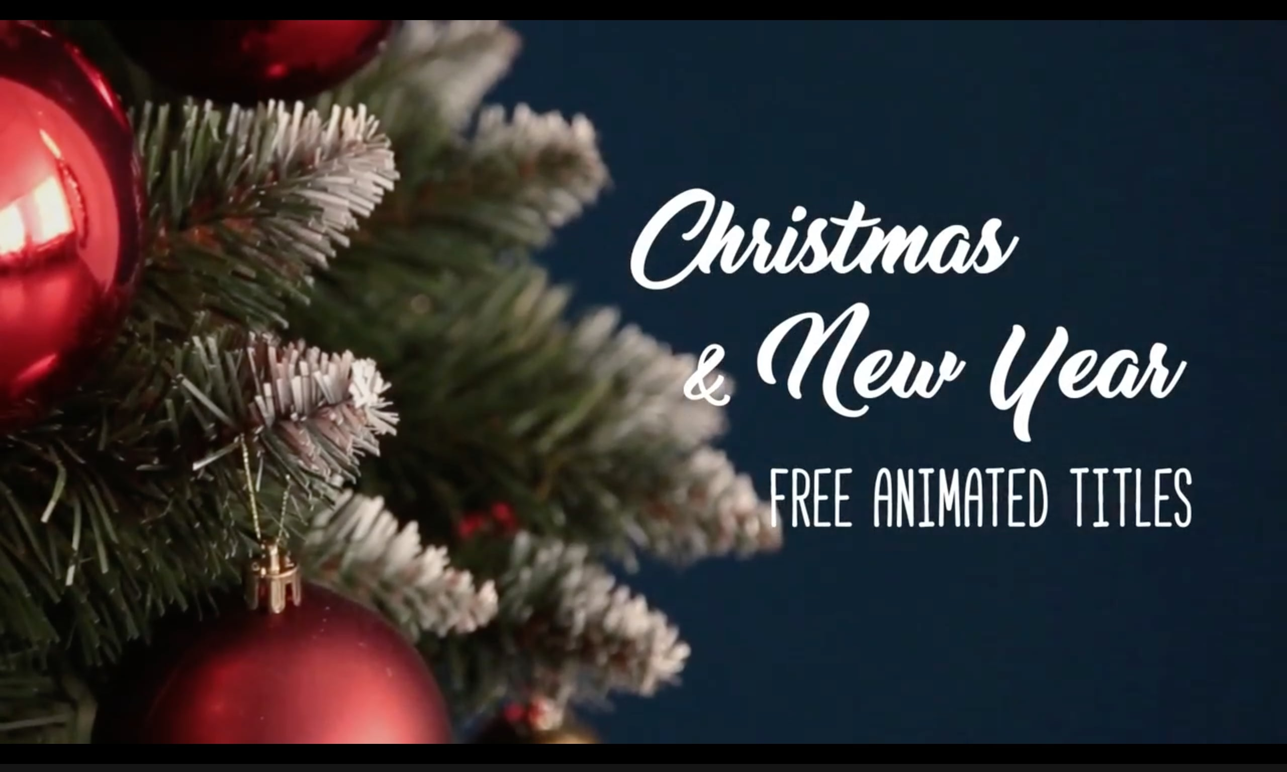free After Effects title template