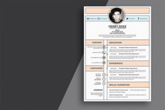 25+ Best Free Resume (CV) Templates for Word & PSD