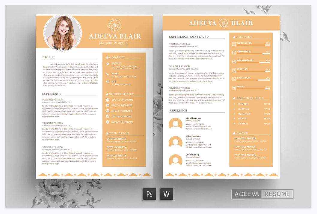 Curriculum Template Free from www.theme-junkie.com