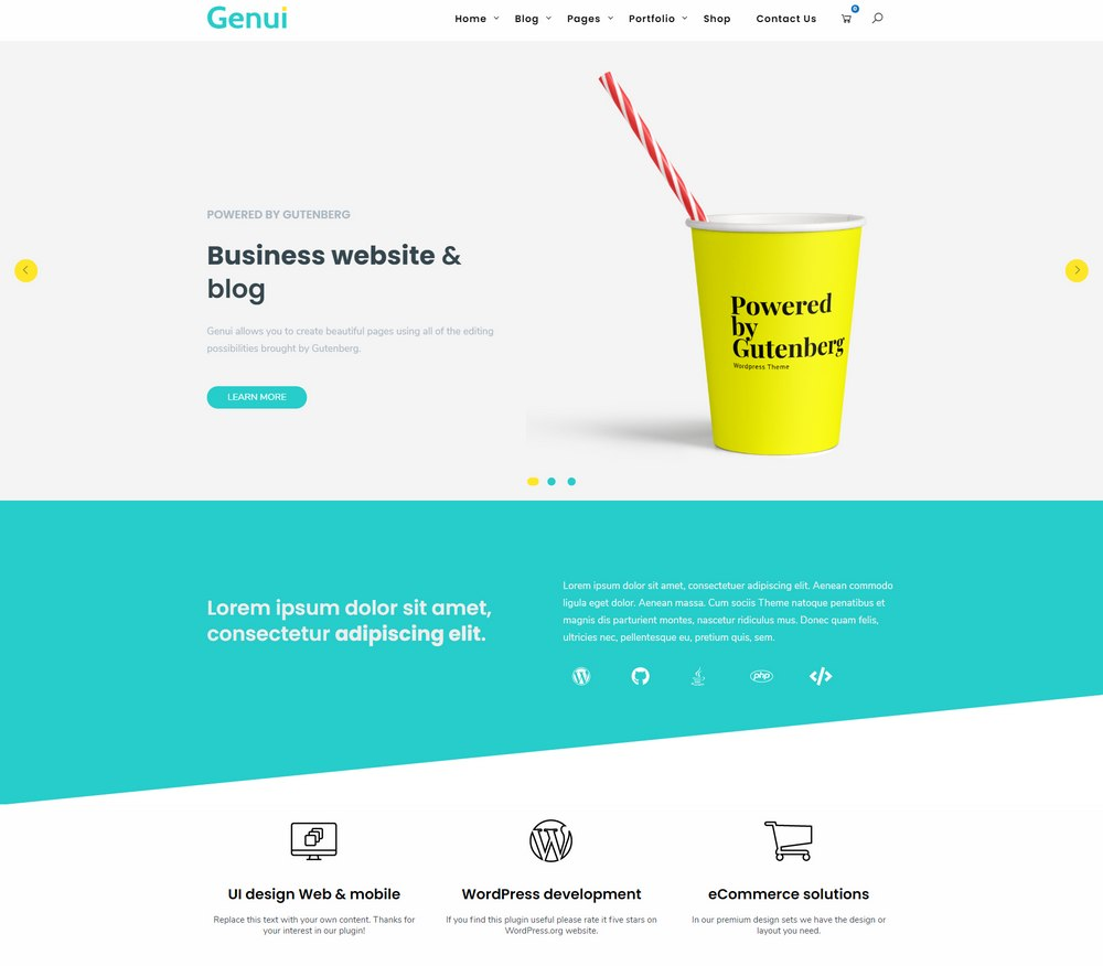 genui-free-easiest-wordpress-theme