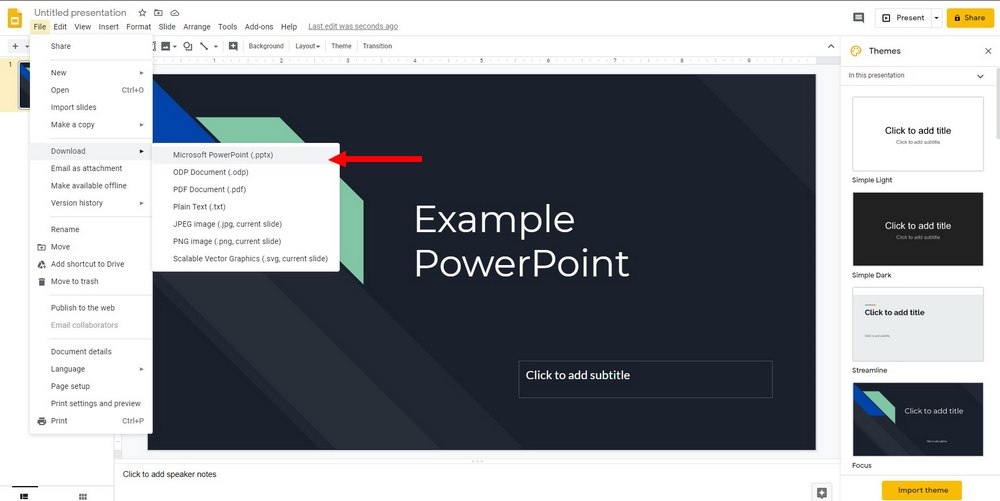 google slides to powerpoint