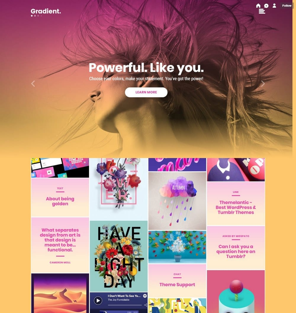 gradient-cute-tumblr-theme