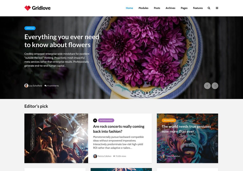Gridlove - Grid Style News & Magazine Theme
