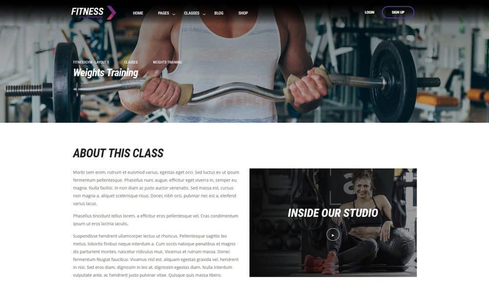 gym-website-classes